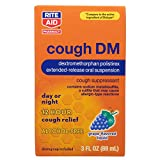 Rite Aid Cough DM Syrup with 12 Hour Relief, Grape Flavor - 3 fl oz | Cough Suppressant for Adults | Alcohol-Free Cough Formula