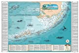 Sealake Products Map of Florida Keys Shipwreck Chart - Explore Hidden Treasures & Shipwrecks from Soldier Key to The Dry Tortugas (Laminated)