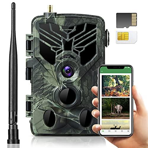 SuntekCam 4G APP Live Video 4K 30MP Fotocamera Caccia Fototrappola , IP66,server gratuito, scansione del codice QR del telecomando, connessione riuscita. compresa la scheda SIM e la scheda SD.-810PRO