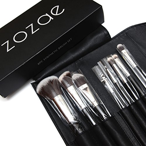 Zozae Premium Professional Quality Kabuki Makeup Brushes 8pc Kit Comes with Organizer Case and Free Beauty Secrets Ebook