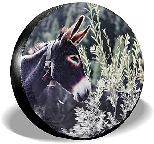 Cubierta para llantas Cute Donkey Protector para llantas de repuesto, impermeable, a prueba de polvo, universal, para ruedas, apto para Jeep, remolque, RV, SUV, camión y muchos vehículos, 17 pulgadas