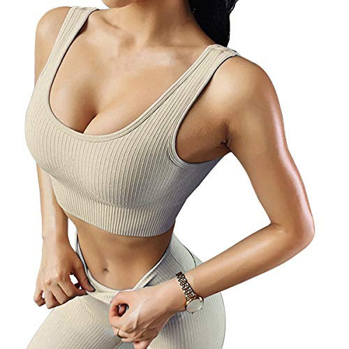 Jetjoy Workout Sets for Women 2 Piece High Waist Seamless Tracksuit Matching Sets Non-Slip Bra and Leggings Yoga Suit Set from Jetjoy