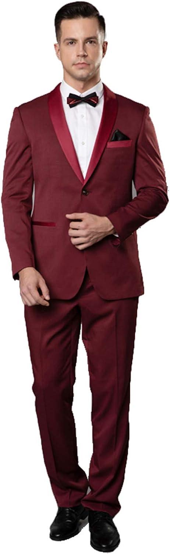 Newdeve Groom Tuxedo Suits Slim Fit 2 Pieces for Men Wedding Suits