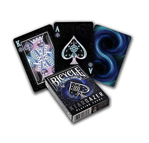 Bicycle Stargazer Mazzo di carte da collezione, Colore Nero, Poker 62.5x88 mm, 1034630