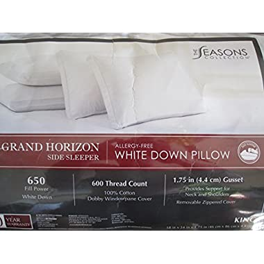 The Seasons Collection[r] Grand Horizon White Down Side Sleeper [Select your Size]