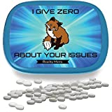 I Give Zero Fox About Your Issues Mints – Funny Gag Gifts for Adults Weird Gifts White Elephant Ideas Gifts for Guys Peppermint Breath Mints Stocking Stuffers for Adults Funny Friend Gift