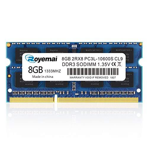 DUOMEIQI 8GB DDR3 1333Mhz PC3-10600 Sodimm 2Rx8 1,35V CL9 Non-ECC Notebook Arbeitsspeicher Module Upgrade für MacBook iMac