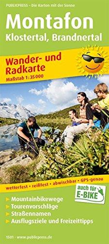 Montafon, Klostertal, Brandnertal: Wander- und Radkarte mit Ausflugszielen & Freizeittipps, wetterfest, reißfest, abwischbar, GPS-genau. 1:35000