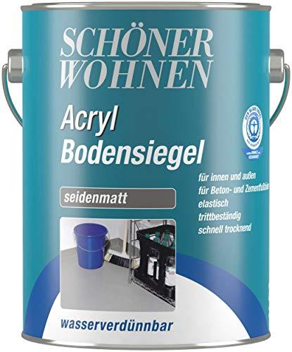 Schöner Wohnen DurAcryl Bodensiegel 750 ml Silbergrau RAL 7001 Bodenfarbe Betonfarbe Kellerfarbe