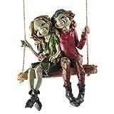 Fiesta Studios Pixie Pareja Colgante Swing, Escultura mágico Misterio jardín decoración...