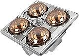 Techo integrado Baño IPX2 Impermeable Multifunción Lámpara cálida A prueba de explosiones Calefacción del hogar Techo integrado Luz de calor Baño 1180W Lámpara de bombilla LED Calentador de baño