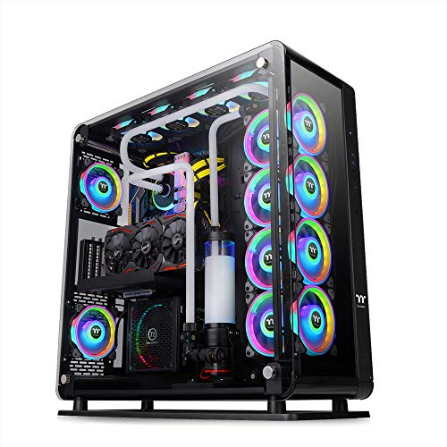 Thermaltake Core P8 Tempered Glass E-ATX Full-Tower Chassis Computer Case CA-1Q2-00M1WN-00, Black