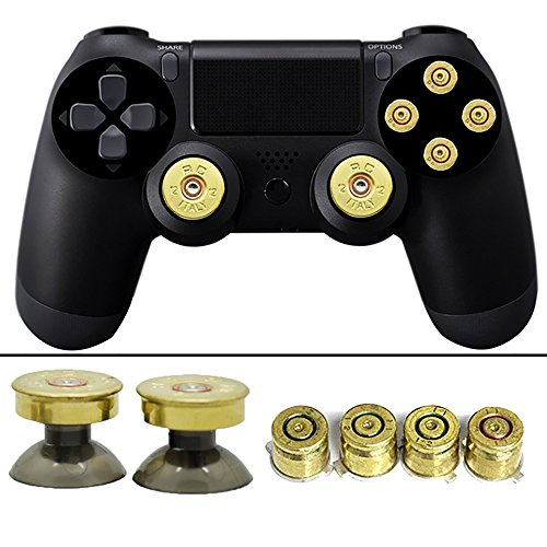 YTTL Thumbsticks Bullet Buttons and Bullet ABXY Buttons Set for PlayStation 4 DualShock 4 Wireless Controller PS4 Controller