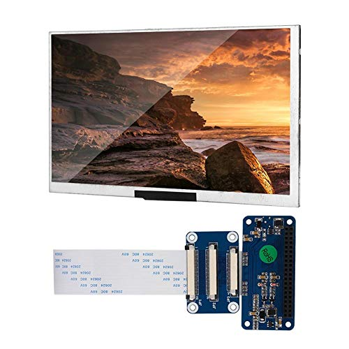Portable LCD screen for Raspberry Pi, 5inch DPI small IPS monitor, 60HZ OSMC HD HD support for Raspberry Pi series board with bracket
