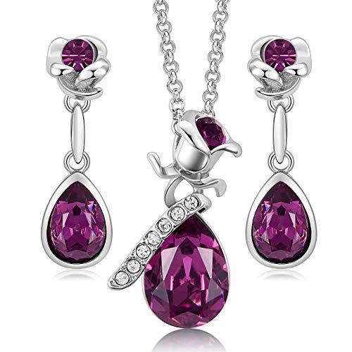 Rose Flower Jewelry Set