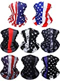 SATINIOR 8 Pieces Summer UV Protection Neck Gaiter Scarf Balaclava Cooling Breathable Face Cover Scarf, National Flag Colors, One Size