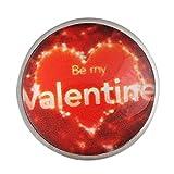 andante perlina bottone a pressione chunk be my valentine per bracciali chunk, anelli chunk e altri accessori chunk