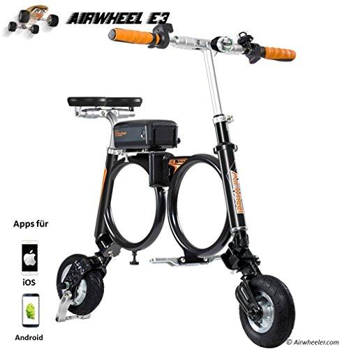 Airwheel Patinete eléctrico Plegable para Hombre E3, Talla M, Hombre, E3, Negro,...