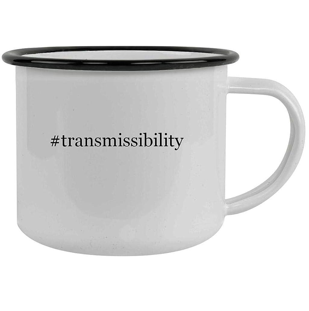 #transmissibility - 12oz Hashtag Stainless Steel Camping Mug, Black