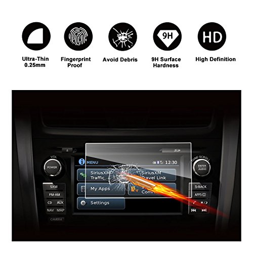 2015-2018 Nissan Rogue NissanConnect 7-Inch Touch Screen Car Display Navigation Screen Protector, RUIYA HD Clear TEMPERED GLASS Car In-Dash Screen Protective Film