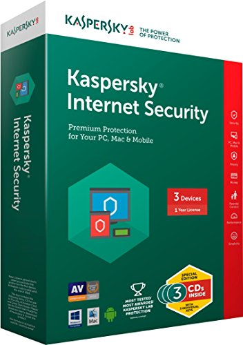 Kaspersky Internet Security Latest Version- 3 Users, 1 Year...