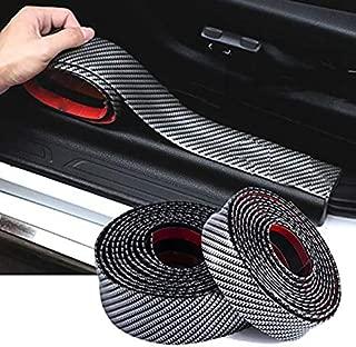 9 MOON Carbon Fiber Strips Car Door Guard Bumper Anti Scratch Trim Corner Protector Cover Universal Stickers Decals Auto Accessories