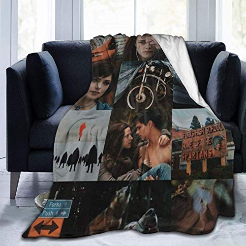 Manta de Edward Bella Jacob Wolf Merch Crepúsculo Saga manta Crepúsculo Poster Ornaments Movie Fans Regalos Lightweigt Manta suave para sofá cama sofá cama 152.4 x 127.0 cm