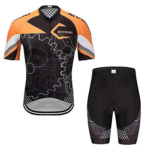 JFY- Jerseys-0902 Trikots Sportbekleidung Schnelltrocknender, eng anliegender Bodysuit Eisschnelllaufanzug Fahrradanzug Schnelltrocknender Fahrrad-Reitanzug JFYCUICAN (Color : Orange, Size : S)