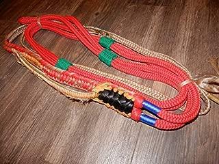 Alligator Bull Rope RED Custom PRO 9x7 LH Bull Riding PRO Bull Riding - EPT Bull Ropes