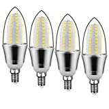 Yiizon LED E14 15W lampadine a candela, 6000K Bianca Freddo, 1500LM non dimmerabile 4 pezzi