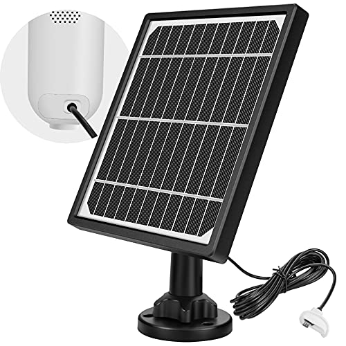 ZEEPORTE Waterproof Solar Panel for Outdoor Security Camera Wireless,Solar Powered for ZEEPORTE Security Camera with 10ft Charging Cable(Not Include Camera)