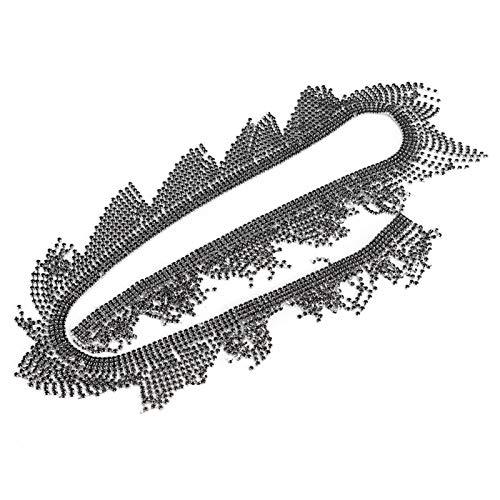 Tofs strass kedja, kristallkläder tillbehör, 1 gård glas handväskor för dekoration mobiltelefoner för DIY hantverk skor sy tillbehör(7cm wide black rhinestone tassel chain 1 size)