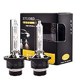 D2S Xenon Brenner 6000K HID Scheinwerfer lampe 35W für Autoscheinwerfer 12V Upgrade-Version - 2...
