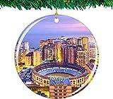 Bernice Winifred Adorno navideño de España Málaga colección de Recuerdos de Viaje de la Ciudad Porcelana de Doble Cara decoración de árbol Colgante de 2,85 Pulgadas