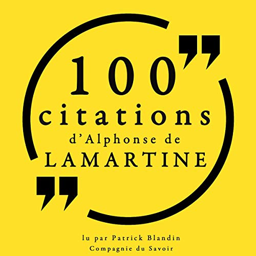 Couverture de 100 citations d'Alphonse de Lamartine