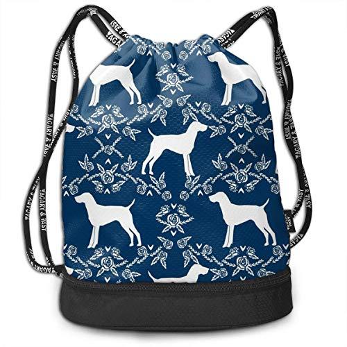 zhangyuB German Shorthair Pointer Dog Kordelzugbeutel Swim Sport Cinch Sackpack Large Capacity Beam Backpack, Home Travel Storage Use Gift for Men & Women, Girls Boys
