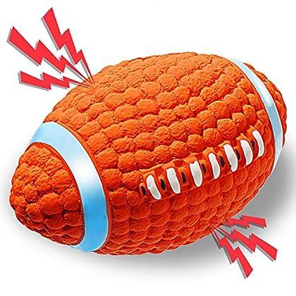 🐶【Quietschendes Rugby】 ACE2ACE Hundespielzeug eingebautes Luftvibrations-Soundgerät. Es wird eine laute, quietschendes Stimme machen, wenn Hund es beißt, großes interesse Ihrer Haustiere erregen. 🐶【Hervorragendes Aussehen Design, Tief saubere Zähne】 ...