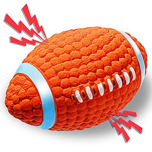 ACE2ACE Giocattolo Palla Cane, Giochi Rugby con Squeak per Cani in Gomma Naturale, Giocattolo interattivo da Lancio,...
