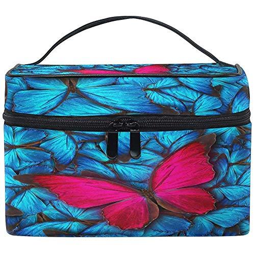 Grand Maquillage Sac Organisateur Coloré Animal Papillon Imprimer Cosmétique Cas Sac De Toilette De Stockage Portable Zipper Poche Voyage Brosse Sac