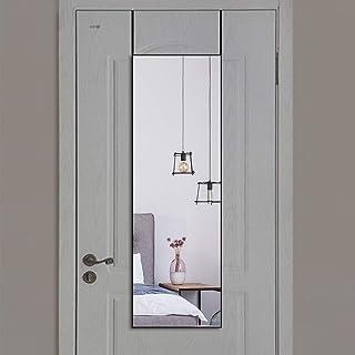 全身鏡立掛け姿見鏡全身ミラー壁掛け鏡 ドアミラー上アルミ合金フレームおしゃれスタイリッシュ106*35cm