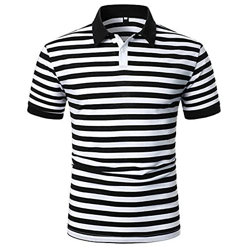 QiFei Heren poloshirt zomer korte mouwen T-shirt patchwork slim fit basic contrast polo shirt golf mannen sport polo shirts bedrukt goedkoop kopen mannen polo shirt andere patronen