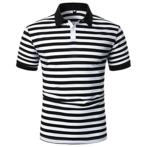 Zilosconcy Camisa de manga Corta para Hombre Blusas Estampado Camisetas Delgado Golf Tennis T-Shirt Oficina Camiseta Hombre Polo Deporte 2021Nuevo