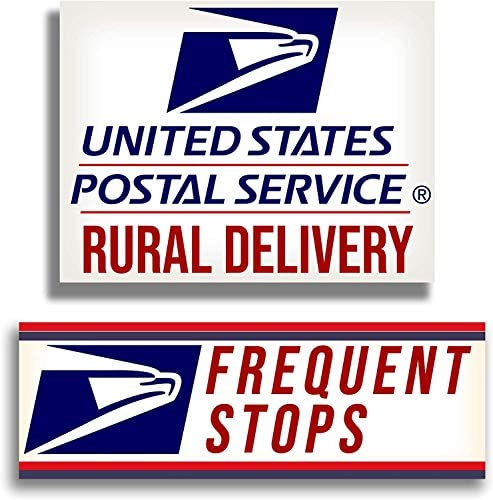 Rural Delivery Long Lasting Magnetic Car Sign for U S Mail 9 x 12 with Frequent Stops Magnet product image