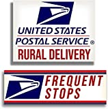 """Rural Delivery Long Lasting Magnetic Car Sign for U.S. Mail, 9"""" x 12"""" with Frequent Stops Magnet, 3"""" x 12"""" included, 2 in 1 Pack Highly Visible Reflective Lettering"""