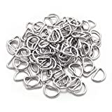 BronaGrand Pack of 100 Metal Nickel Plated D Ring (1/2inch)