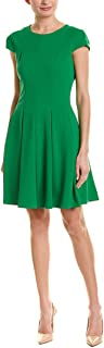 Julia Jordan Women's Crepe Scuba Short Sleeve Fit and Flare Dress
