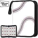 648 Pockets Baseball Card Binder for Baseball Trading Cards, Display Case with Baseball Card Sleeves Card Holder Protectors Set for Football Card and Sports Card