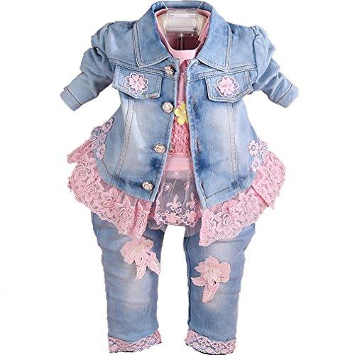 Juego de 3 piezas de ropa de mezclilla para bebés