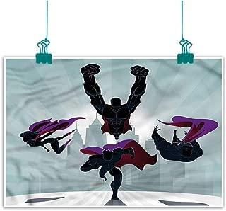 J Chief Sky Superhero,Bedroom Wall Decor W 16