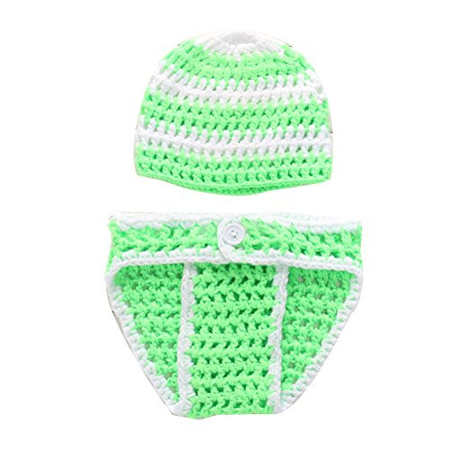 Zhhlinyuan Mode Newborn Baby Boy Girl Crochet Knit Costume Photo Photography Prop Outfit 2194